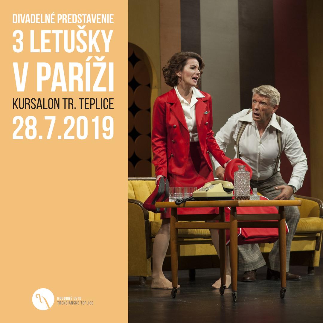 Divadelné predstavenie Tri letušky v Paríži