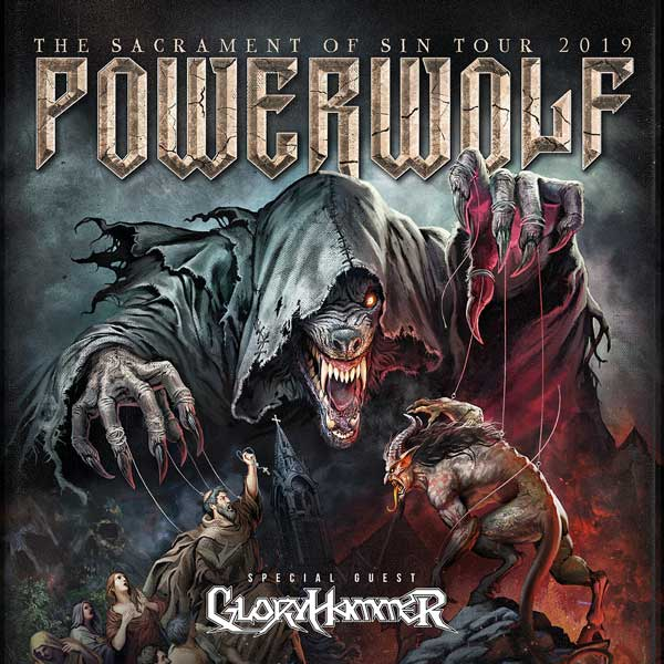"POWERWOLF ""The Sacrament of Sin Tour"" /GLORYHAMMER"