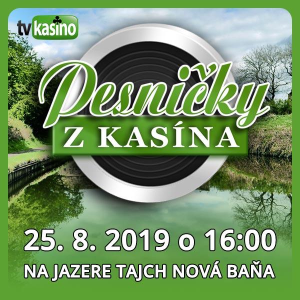 Pesničky z Kasína na jazere TAJCH Nová Baňa