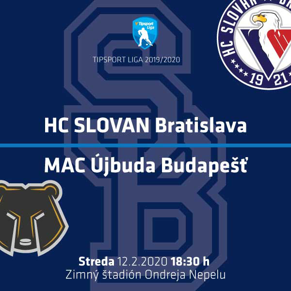 HC SLOVAN Bratislava – MAC Újbuda