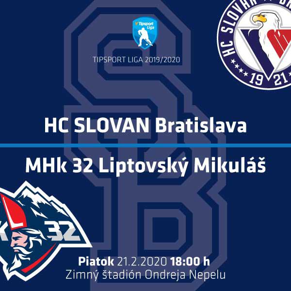 HC SLOVAN Bratislava – MHk 32 Liptovský Mikuláš