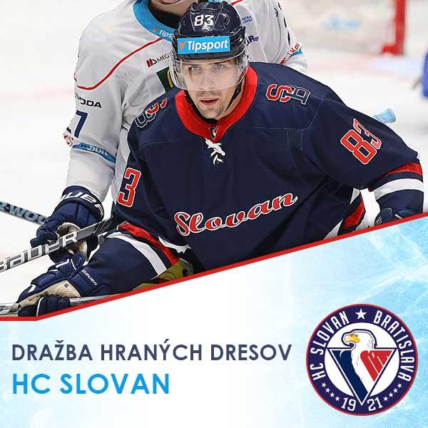 Dražba hraných dresov HC SLOVAN 2019/20
